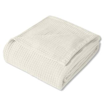 Sweet Home Collection 100% Fine Cotton Luxurious Basket Weave Blanket
