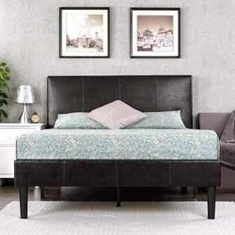 Zinus Gerard Deluxe Faux Leather Upholstered Platform Bed