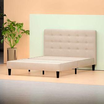 Zinus Ibidun Upholstered Button Tufted Platform Bed