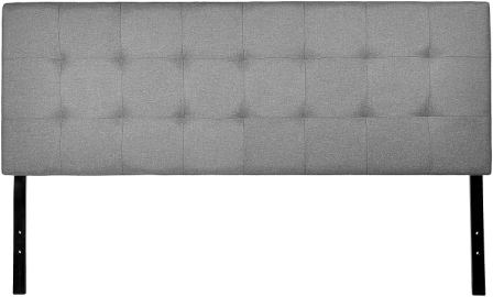 AmazonBasics Faux Linen Upholstered Headboard