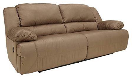 Ashley Furniture Signature Design – Hogan Reclining Sofa – Mocha Brown