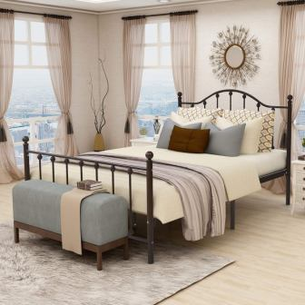 BUFF HOME Iron Bed Frame