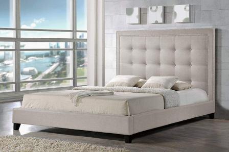 Baxton Studio Hirst Platform Bed, King