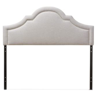 Baxton Studio Jardan Modern & Contemporary Fabric Upholstered Headboard