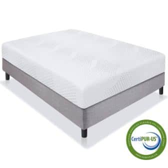 Best Choice Products 10″ Dual Layered Memory Foam Mattress Queen