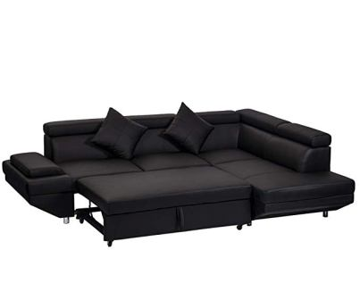 BestMassage Leather Sectional Corner Sofa