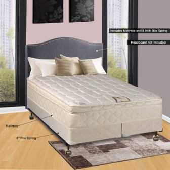 Continental Sleep 10 Pillowtop Fully Assembled Othopedic California King Mattress & Box Spring, Deluxe Collection
