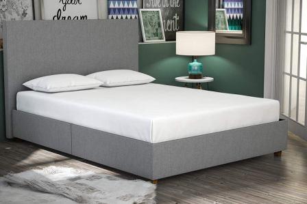 DHP Alexander Upholstered Platform Bed Frame