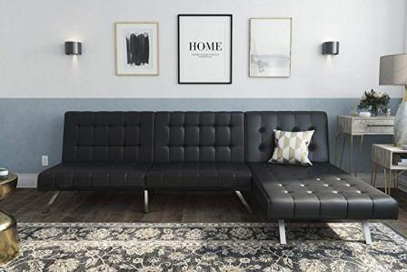 DHP Emily Sectional Futon Sofa