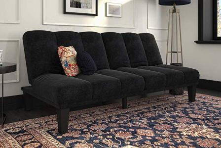 DHP Hamilton Black Sofa Sleeper