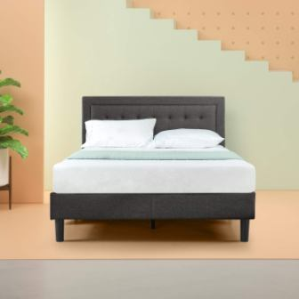 Dachelle Upholstered Platform Bed by Zinus