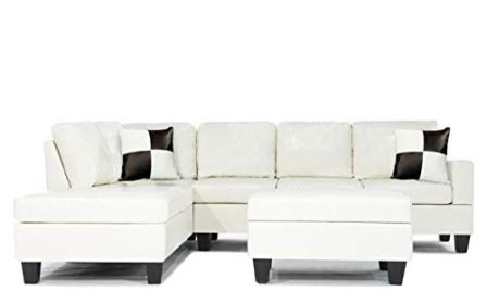 Divano Soft Touch Reversible PU Leather Sectional Sofa Set
