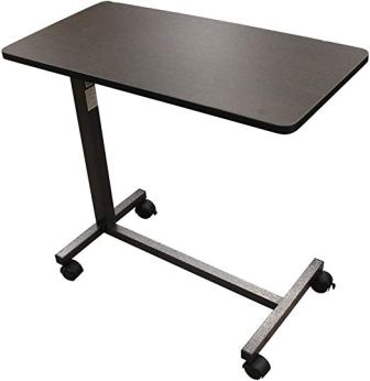 Drive Medical Overbed Table, Silver Vein