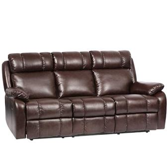 FDW PU Leather Recliner Sofa