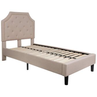 Flash Furniture Brighton Tufted Upholstered Twin Size Platform Bed
