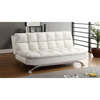 Furniture of America Preston Leather Sleeper Sofa Bed