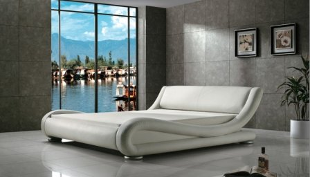 GREATIME B1070 Queen Contemporary Upholstered Bed