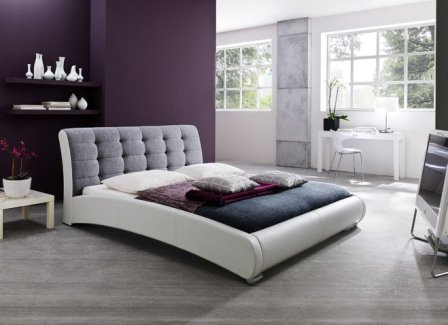 Guerin Contemporary Faux Leather Platform Bed Frame by Baxton Studio