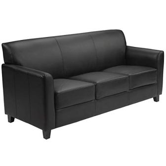 HERCULES Diplomat Series Black Leather Sofa by Flash Furniture