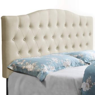 HOME BI UPHOLSTERED TUFTED HEADBOARD