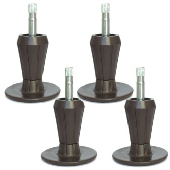 Set of 4 Well Top Bed Frame Feet Replacement Chrome Glider