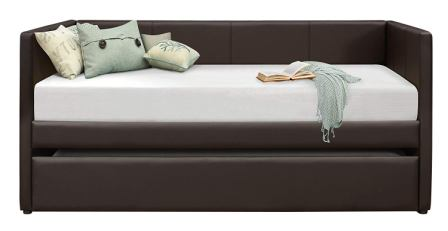 Homelegance Adra PU Leather Upholstered Daybed with Trundle