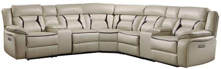 "Homelegance Amite 119"" Power Reclining Sectional Sofa"