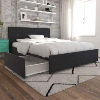 Kelly Upholstered Storage Bed by Novogratz