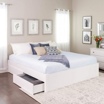 King Select 4-Post Platform Bed with 4 Drawers
