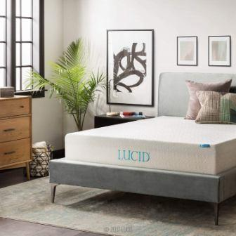 LUCID 12 Inch Gel Memory Foam Mattress - Triple-Layer - Ventilated Gel Foam - CertiPUR-US Certified - 10-Year U.S. Warranty - King (Top Pick)