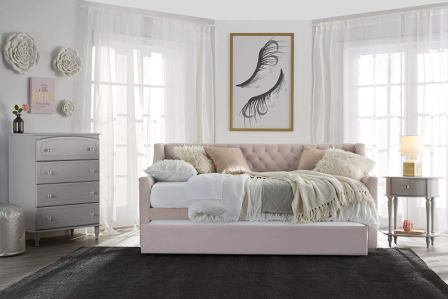 Little Seeds Ambrosia Upholstered Daybed and Trundle Set
