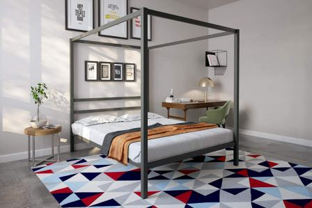 Modern Canopy Metal Bed by Dorel Home Products (DHP)