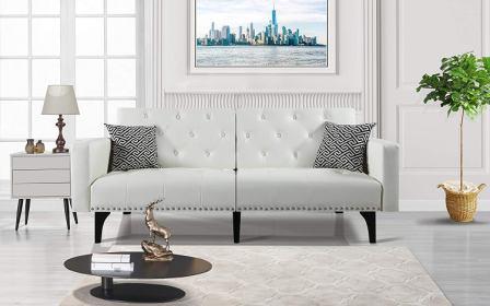 Moderne LivinTM Bonded Leather Sofa