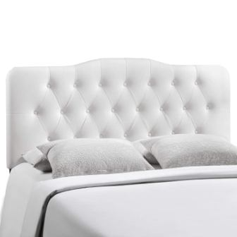 Modway Annabel Tufted Button Faux Leather Upholstered Full Headboard