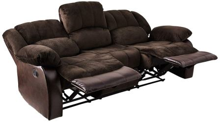 NHI Express 71004-93 Aiden Motion Sofa (1 Pack), Peat