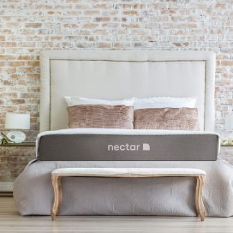Nectar Twin Mattress with Two Pillows