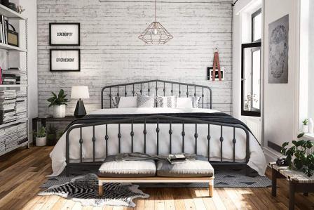 Novogratz 4044439N Bushwick Metal Bed, King