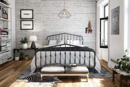 Novogratz Bushwick Iron Bed Frame