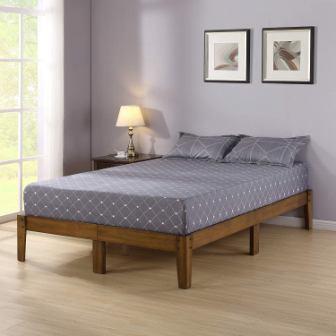 Olee Sleep Smart Wood Platform Bed Frame