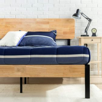 Olivia Metal and Wood Platform Bed Frame by Zinus