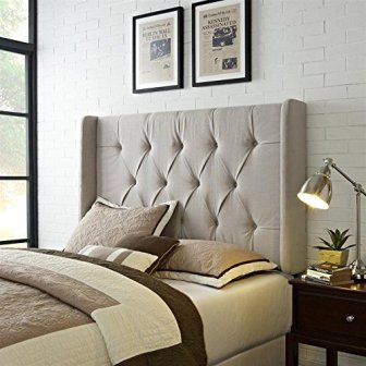 PULASKI MIRABELLA TUFTED PANEL HEADBOARD WITH WINGS
