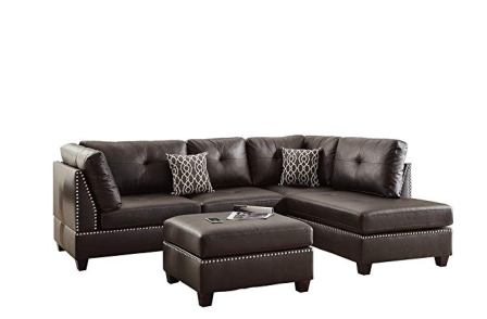 Poundex F6973 Bobkona Viola Sectional Set