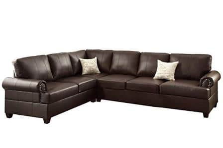 Poundex F7770 Bobkona Cady Sectional Sofa