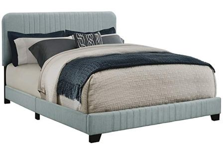 Pulaski Home Comfort Mid-Century Modern Upholstered King Size Platform Bed