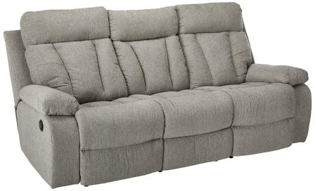 Signature Design by Ashley 7620489 Mitchiner Reclining Sofa, Fog