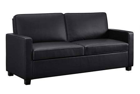 Signature Sleep Casey Faux Leather Sleeper Sofa