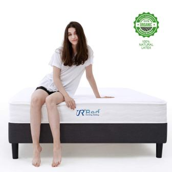 Sunrising Bedding 10 inch Natural Latex Hybrid Full Mattress & Gel Memory Foam & Pocket Coil Innerspring - Medium Firm Sleep Cooling - CertiPUR-US Certified - 120 Night Trial - 20 Years Warranty