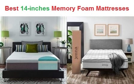 Top 15 Best 14-inches Memory Foam Mattresses in 2019