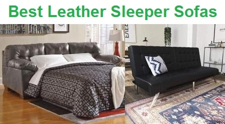 Top 15 Best Leather Sleeper Sofas In