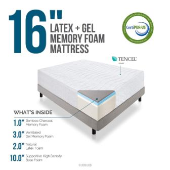 Top 16-inch Memory Foam Mattresses in 2019